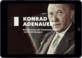 Konrad Adenauer as great storytelling example