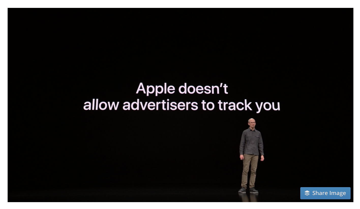 Apple doesn't allow ad tracking