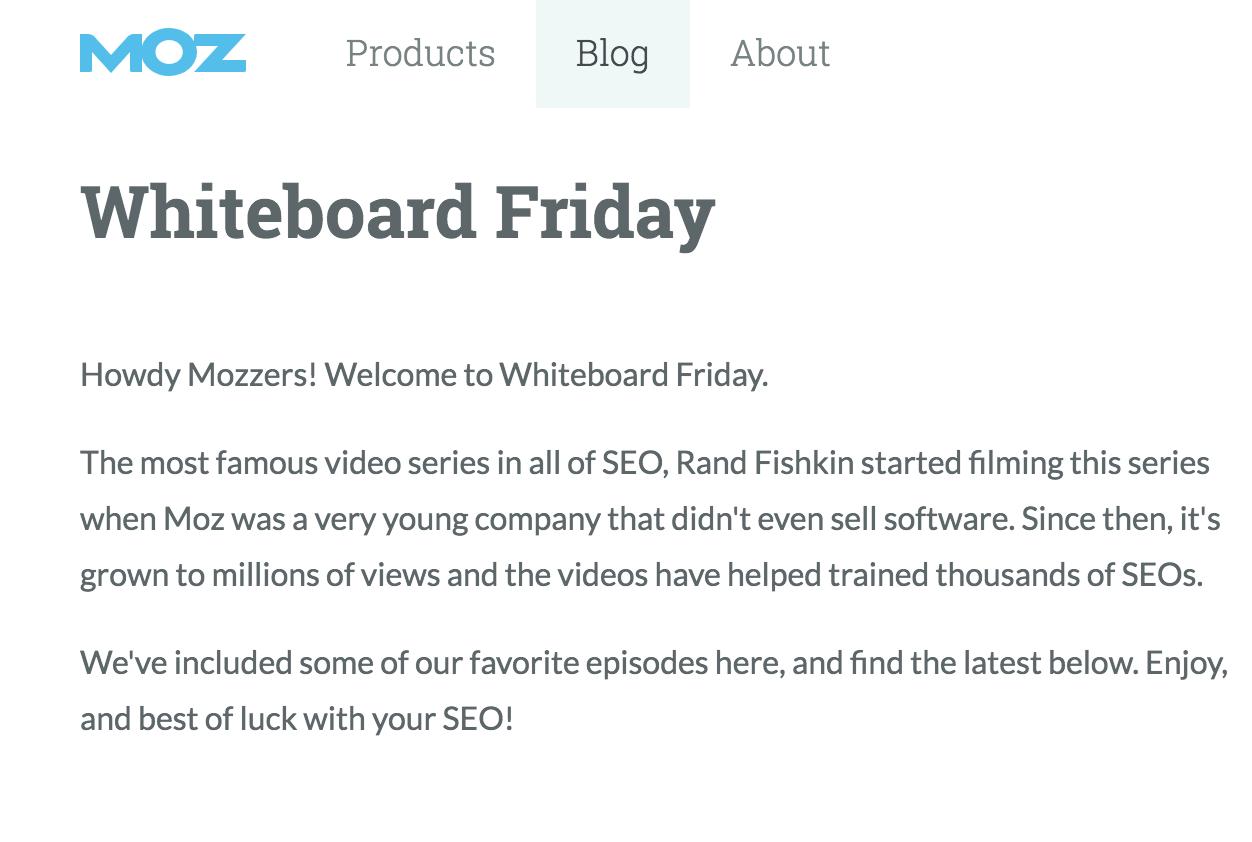 MOZ Whiteboard Friday