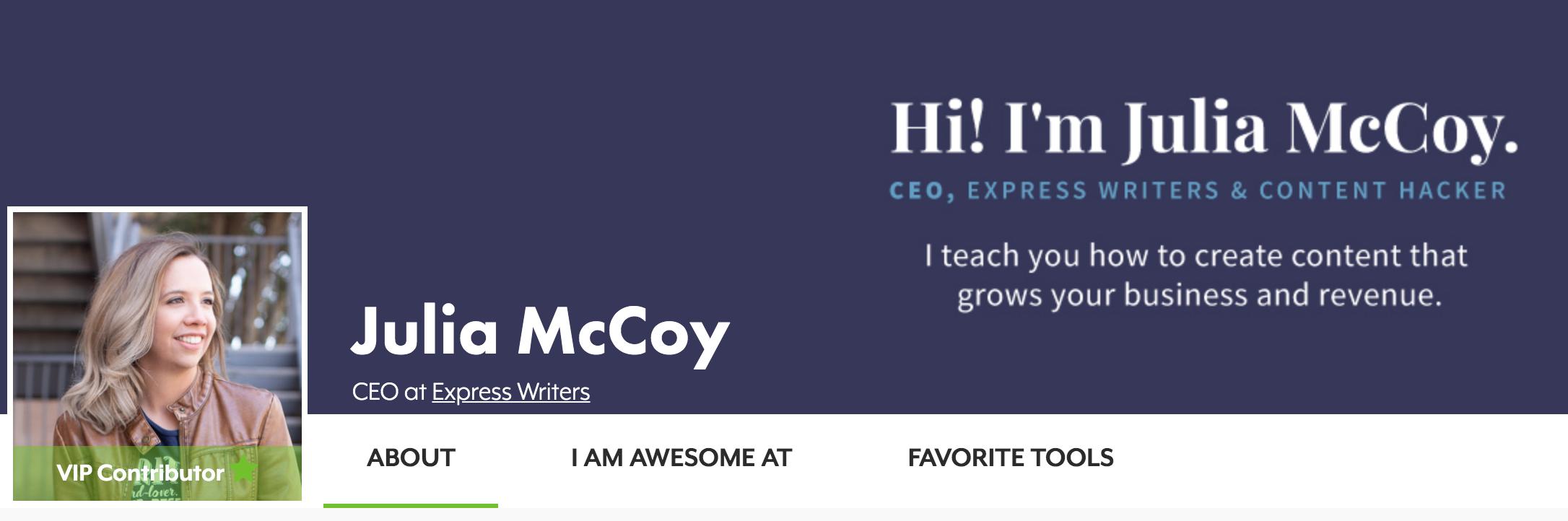 Search Engine Journal Contributor Julia McCoy