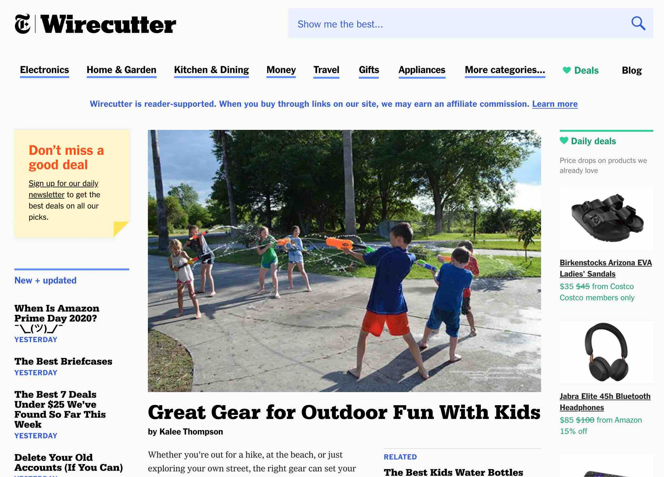 New York Times' product review site The Wirecutter