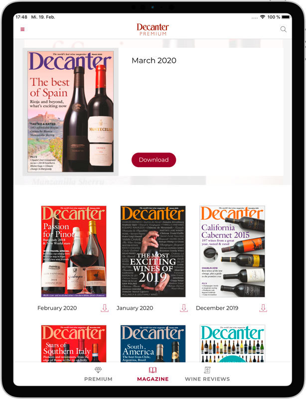 Decanter magazine newsstand