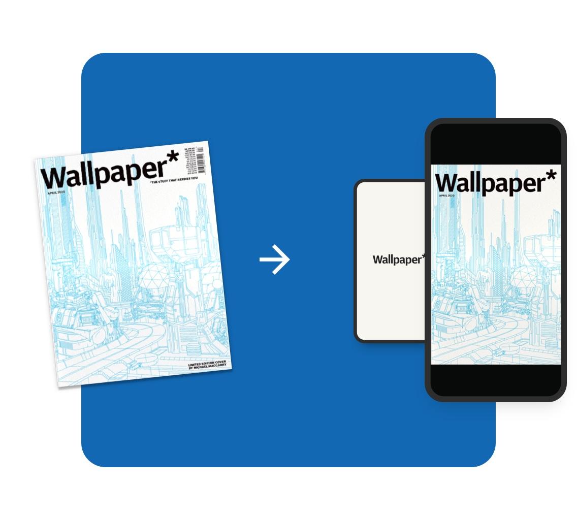 Digital Magazine: Wiederverwendung von Print Image