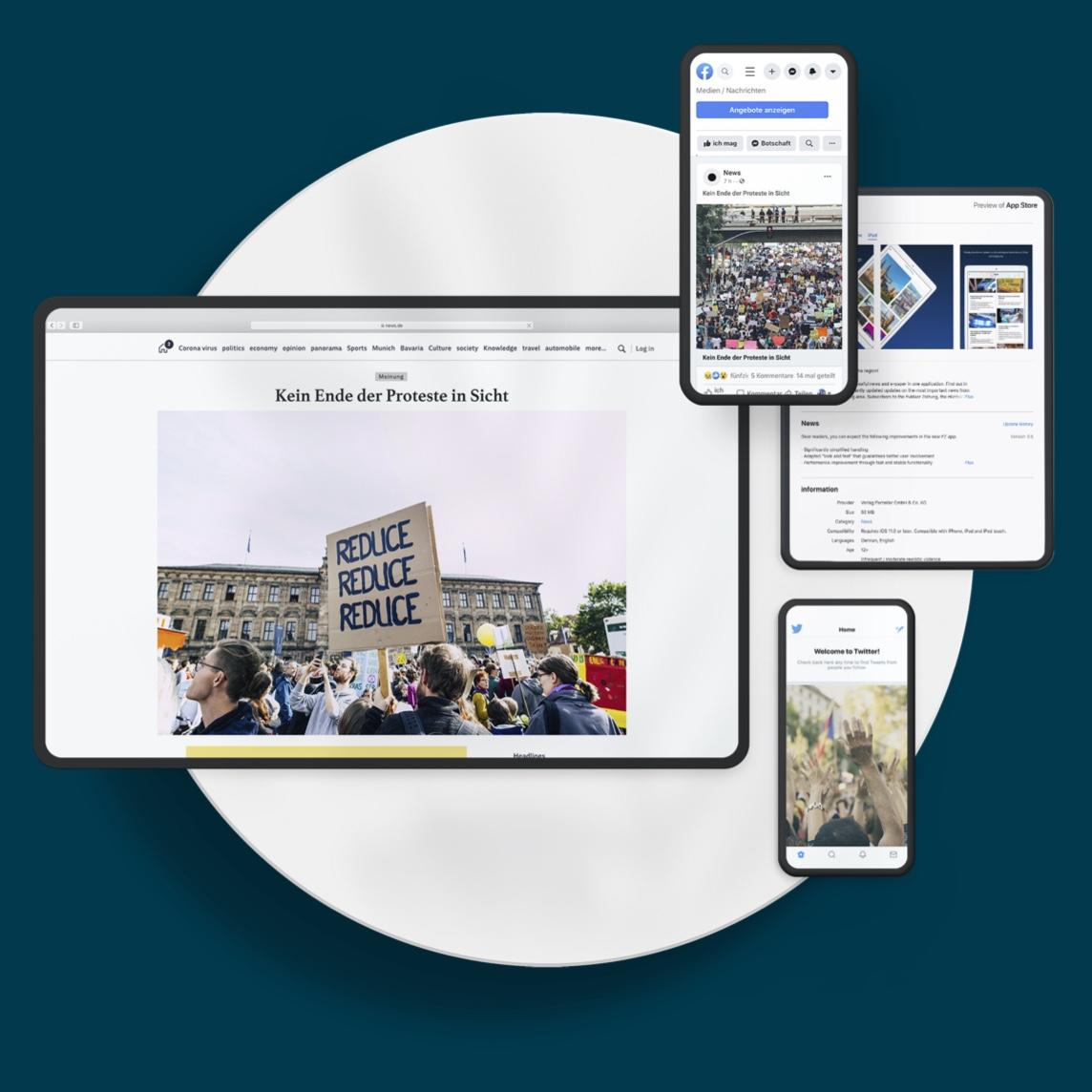 Digital News Illustration