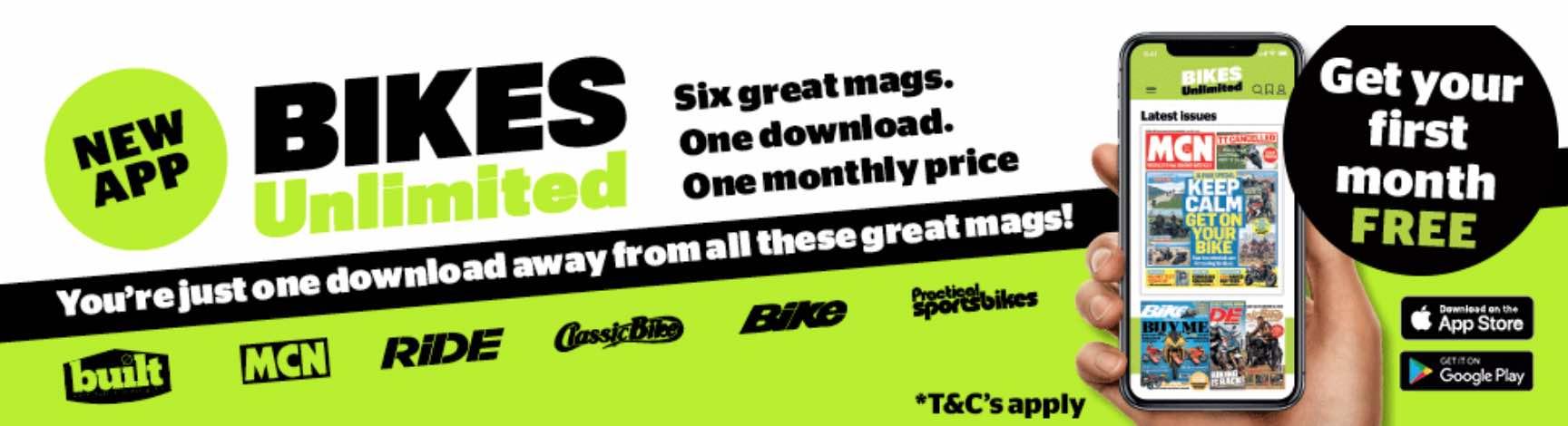 Bikes unlimited banner advertising screenshot