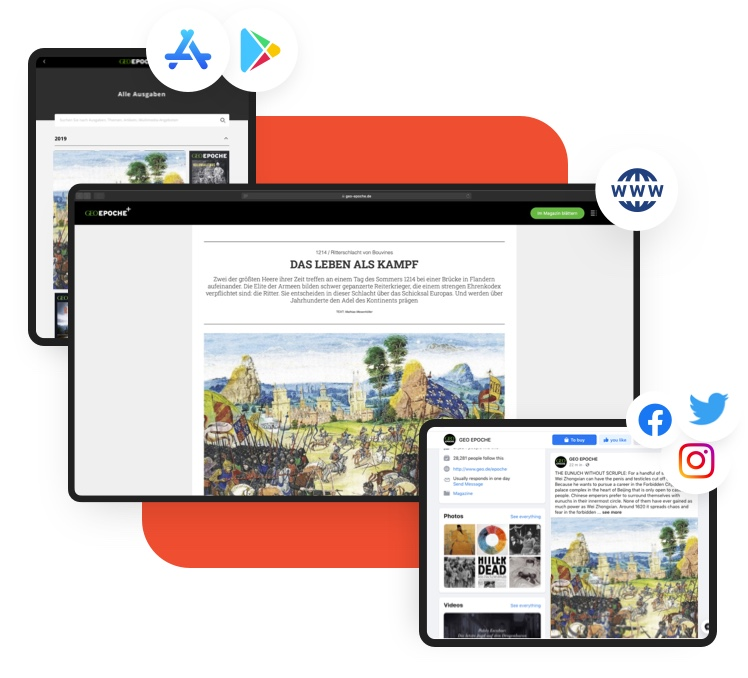 Multichannel Publishing CMS as a digital publishing example image
