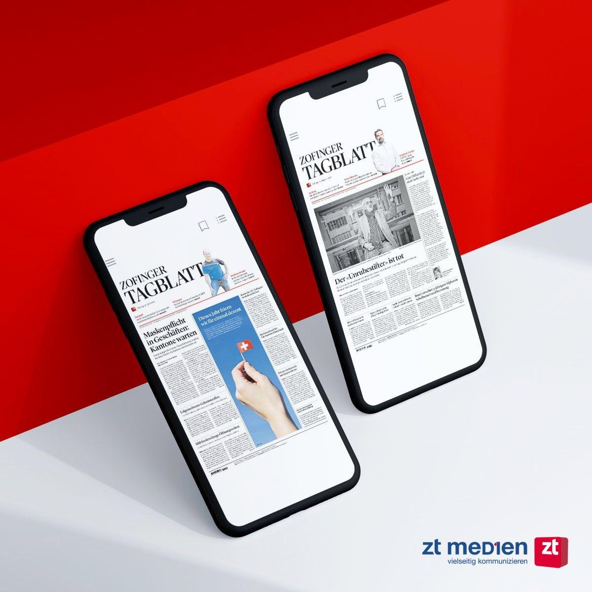 Die Zofinger Tagblatt ePaper App von SPRYLAB