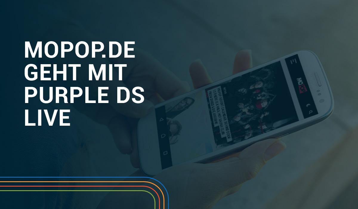 MOPOP.de geht mit Purple DS Hub live Hero Image