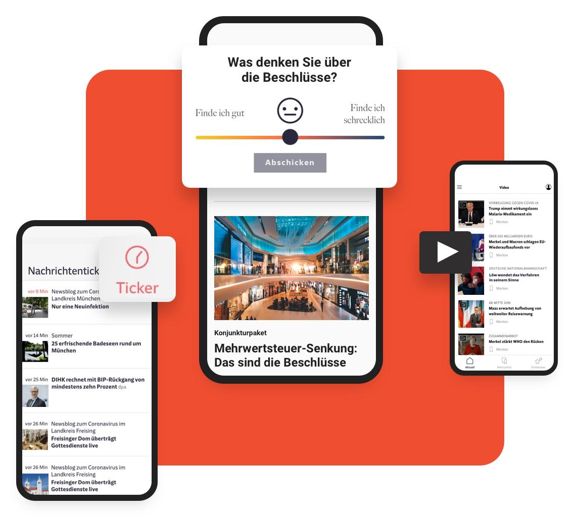 Multichannel CMS: Interactive Apps Illustration