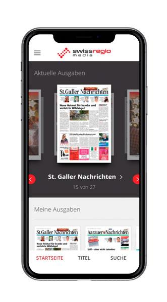 Swiss Regiomedia Überblick Screenshot