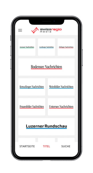 Swiss Regiomedia Multi-Title-App Titel Screenshot