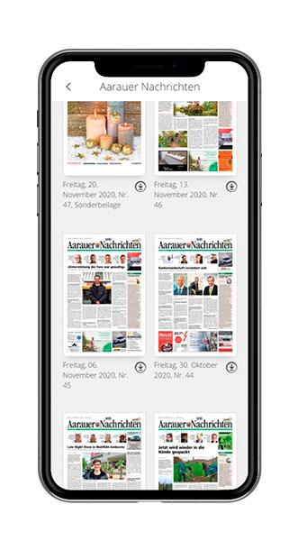 Multi-Title-App Übersicht Screenshot