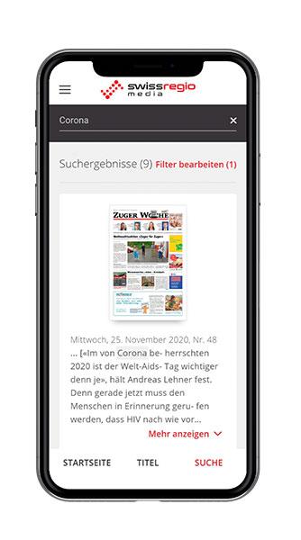 Swiss Regiomedia Titelansicht Screenshot