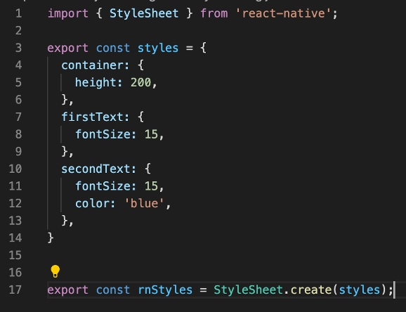 Example of a possible way to share CSS