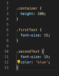Example of the content of a CSS file
