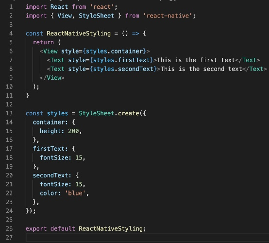 Styling in React Native