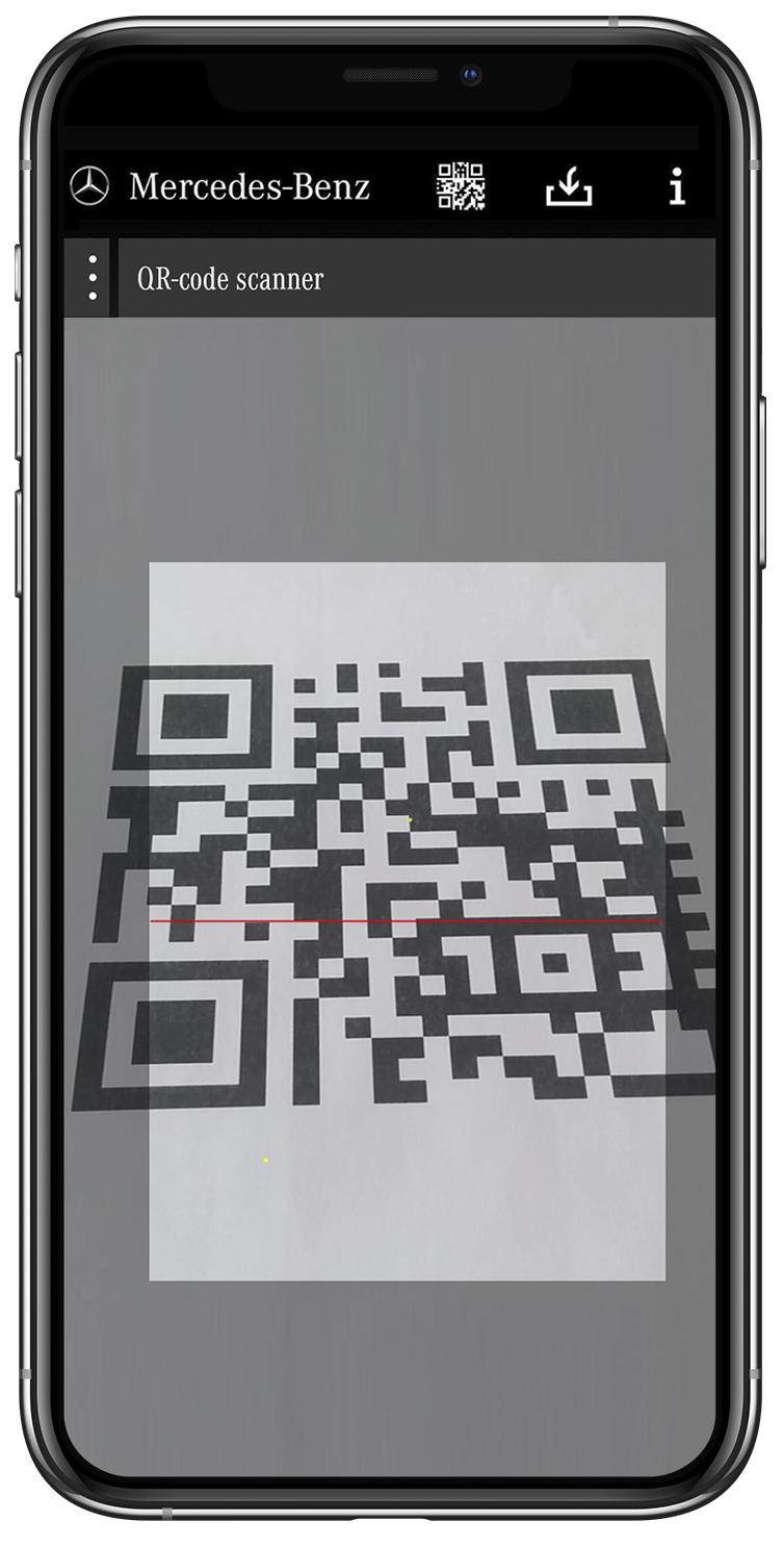 Mercedes Benz Rescue Assist App QR Code Image