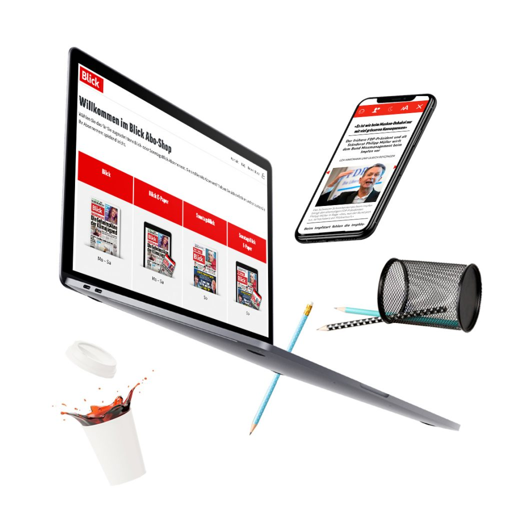 BLICK Online-Kiosk and Smartphone App Hero Image