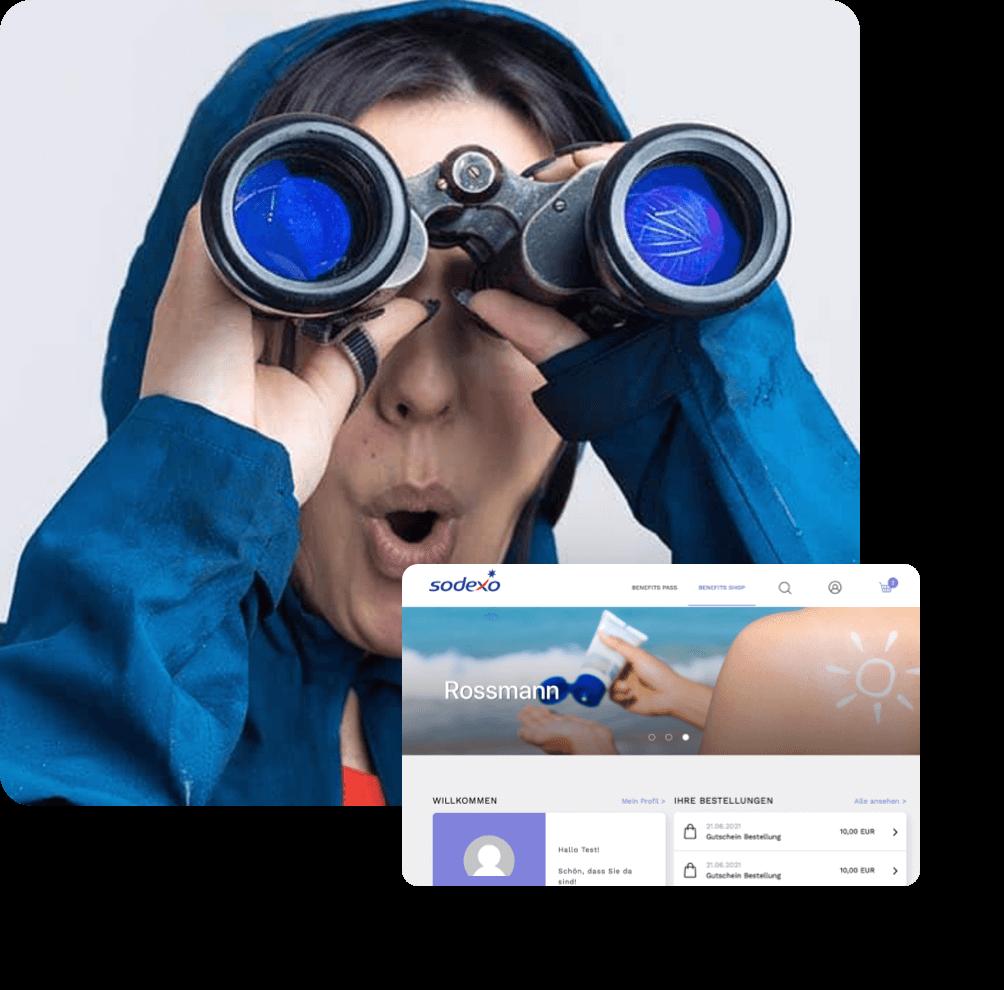 Plattform Entwicklung und Portal Entwicklung Sodexo Mockup