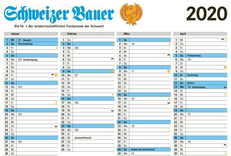 Schweizer Bauer Mondkalender Schweizer Bauer
