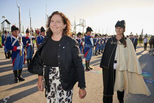 Waffenübergabe Grenadiere für Sylvie Bonvin. Foto: FN / Charles Ellena,  24.09.2021